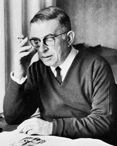 Jean-Paul Sartre (1905–1980), French philosopher and author