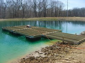 1000 ideas about floating dock on pinterest dock ideas for Small pond dock plans