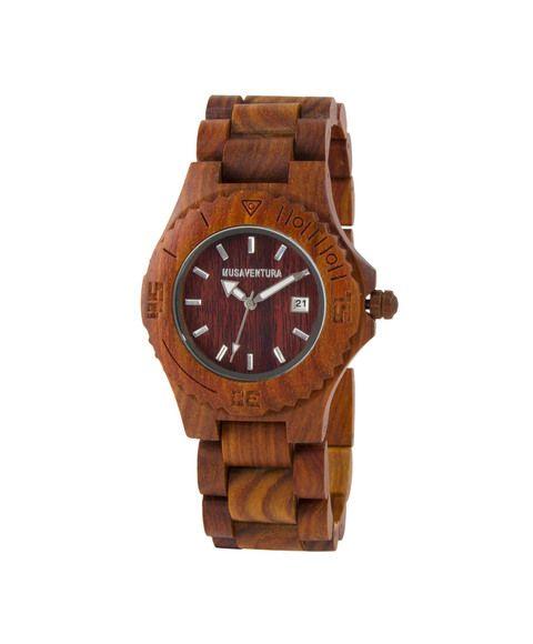 Reloj madera palisandro MUSAVENTURA - CRYSTALS FROM SWAROVSKI