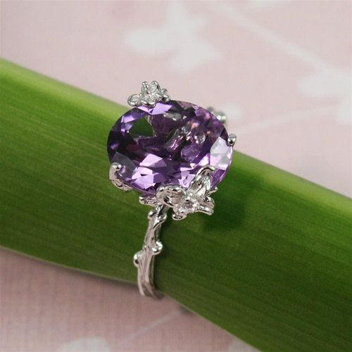Unique Purple Amethyst Ring by 4FireflyCollections on Etsy, $80.00