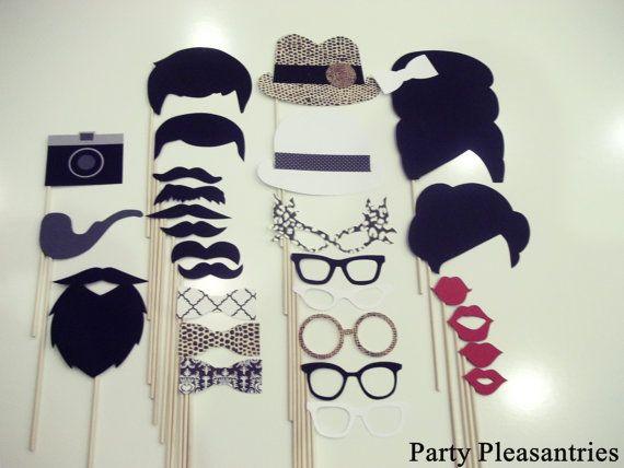 MadMen Party Pleasantries Photobooth Props!  Fabulous!!!
