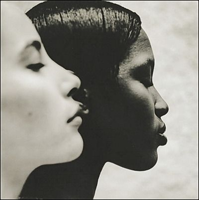 "Ebony & Ivory"" (1993) (Christy Turlington and Naomi Campbell) Photographer: Anton Corbijn"