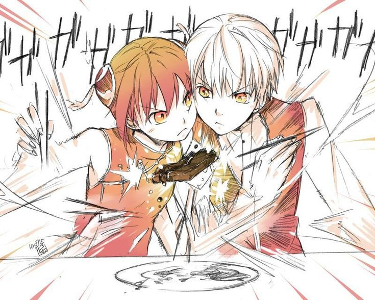 Gintama. Kagura and Okita. I now declare them shipped!