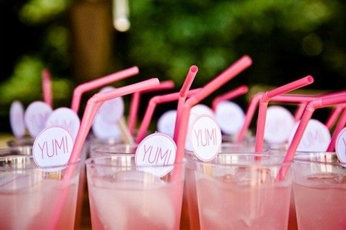 Refreshing pink lemonade for an outdoor soiree! AND WHAT A GREAT WAY TO SUPPORT BREAST CANCAR. HAVE A BREAST CANCER PARTY