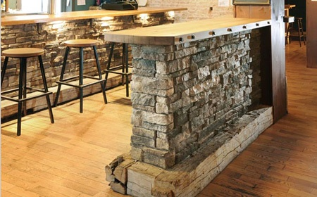 stone veneer wall - easy to install