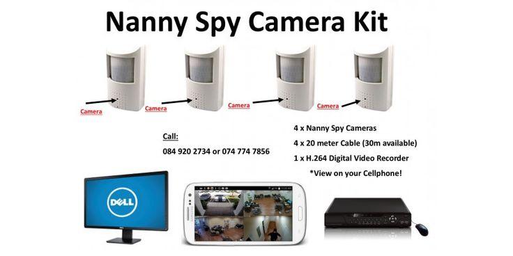 Nanny Security Camera Kit -  Fully DIY and easy to install CCTV Kit