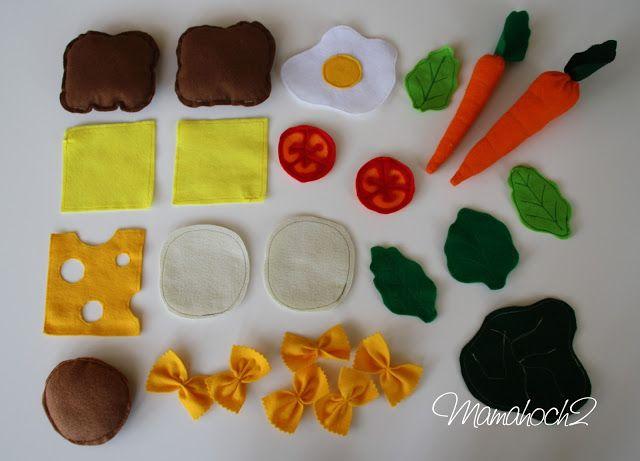 Passend zum gestrigen Kinderküchenpost zeigen wir euch heute wie einfach man Spielessen so genanntes Playfood bzw. Felt Food (Filzessen) nähen kann. Wir haben nämlich eine Menge an verschiedenen Sorte