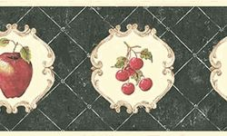 Vintage Chic Cameo Fruit Wallpaper Border  CLEARANCE!! QUANTITIES LIMITED!!