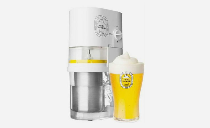 The Kirin Ichiban Frozen Beer Slushie Maker adds a frozen head to your favorite beverage for a frosty treat