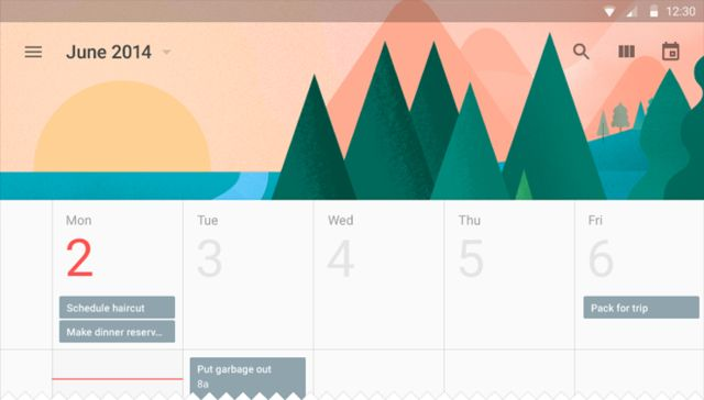 Google Material Design: Calendar: Week / ?