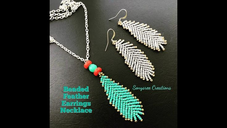 How to make Beaded Feather Earrings or Pendant 💞...Boho Style Earrings - YouTube - Jan Handley