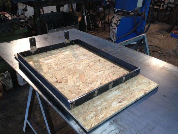 Pieds de table en fer plat hauteur 70 ou 75 cms etsy - Ou trouver des pieds de table ...