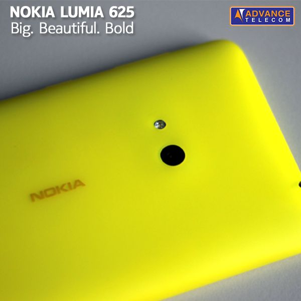 Here comes the big, beautiful and bold Nokia Lumia 625 with translucent colored shells you will fall in love with!