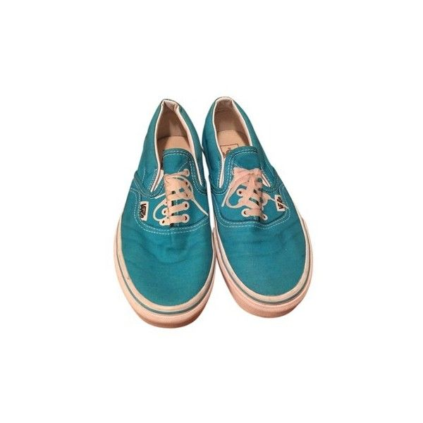 Vans Teal Off The Wall Flats ($30) ❤ liked on Polyvore featuring shoes, flats, vans flats, teal flats, flat heel shoes, vans shoes and teal shoes