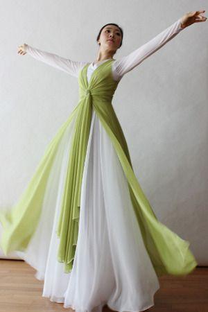 vestido lindo de coreografia evangelica