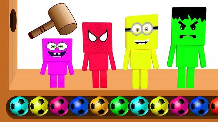 Learn Colors Numbers with Minecraft for Children WOODEN FACE HAMMER XYLOPHONE Finger Family Rhymes