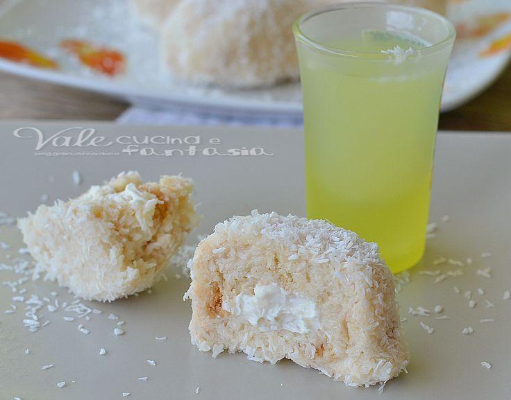 Biscotti senza cottura cocco e limoncello