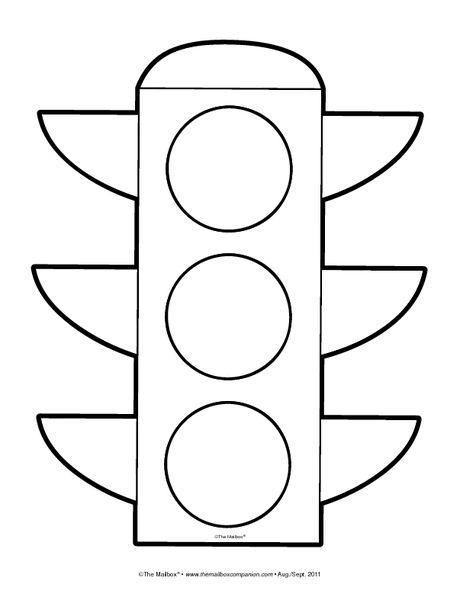 Traffic Light Pattern Transportation Teaching Unit Stop Light Coloring Page