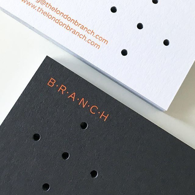 Business cards design by Branch (UK). Printed on Arjowiggins - Keaykolour Original Pure White 300gsm & 100% Recycled Graphite 300gsm.