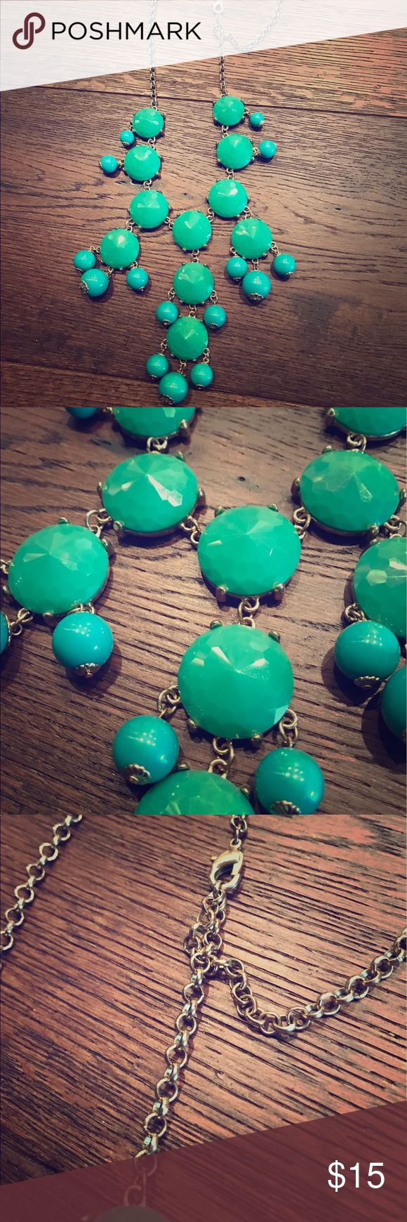 Turquoise Bubble Necklace Turquoise bubble necklace. Completes any outfit Jewelry Necklaces