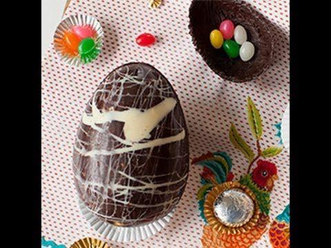 Come fare in casa le uova di cioccolato di Pasqua - videoricetta - YouTube