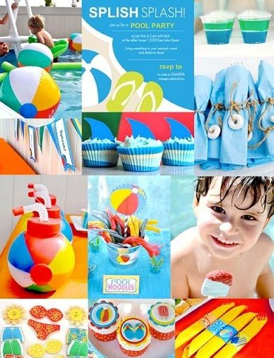 pool+party+decorations+for+kids | ... party invitations these pool party invites give guests a pool side