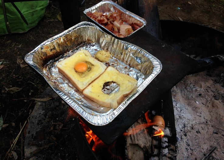 #Campfire and #ToadInAHole with #Bacon