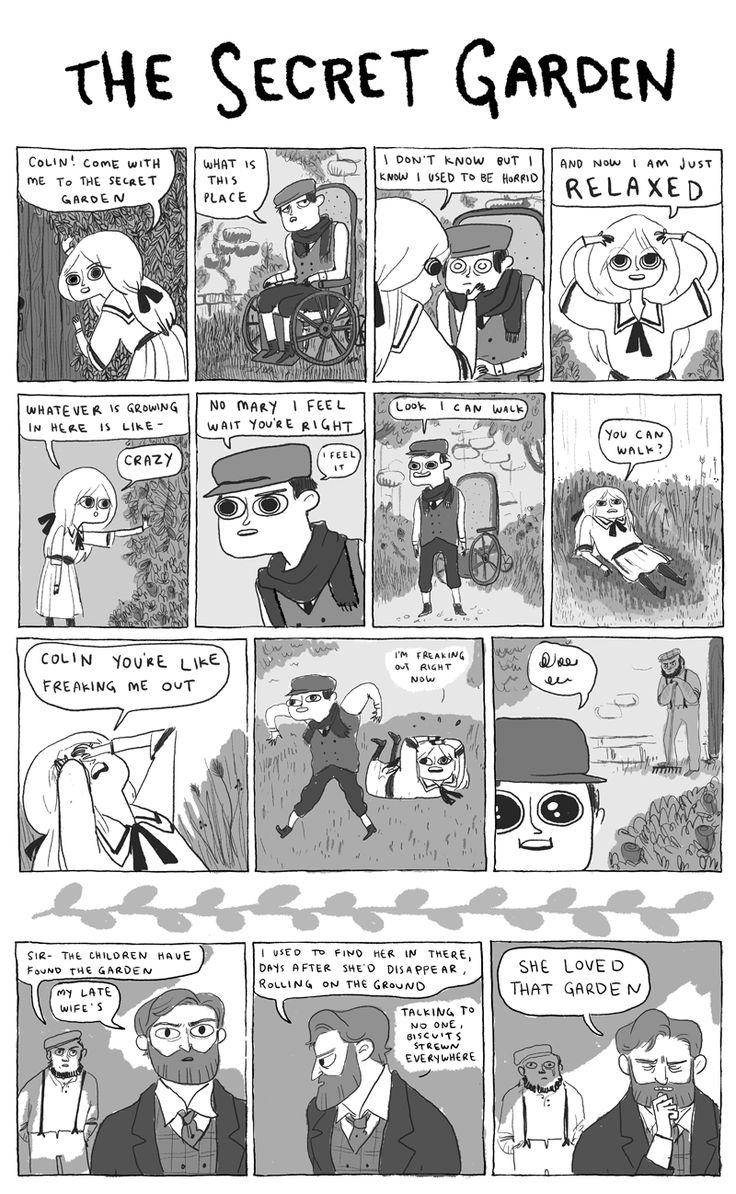 """""""Hark a Vagrant"""" webcomic tribute to Frances Hodges Burnett's 'The Secret Garden.'"""
