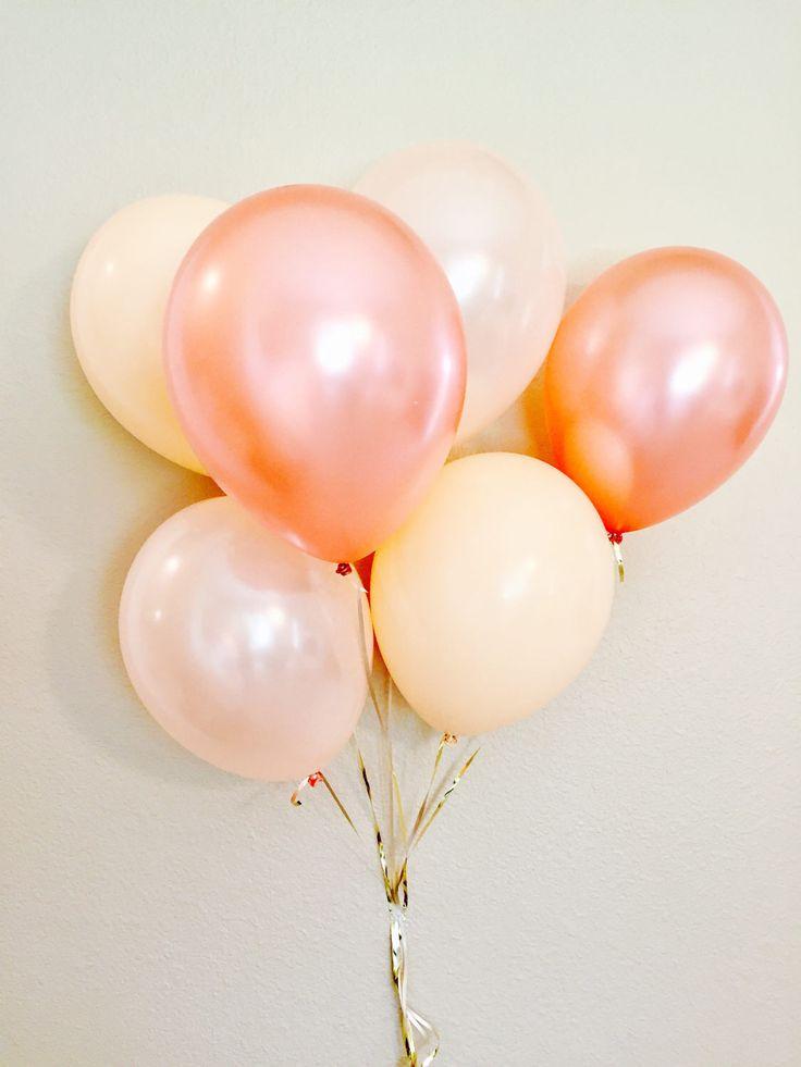 Rose Gold Latex Balloons, Bridal Shower, Anniversary Balloons, Neutral Balloons, Rose Gold Balloons, Wedding Balloons, Rose Gold Balloon Set by girlygifts07 on Etsy https://www.etsy.com/listing/507135146/rose-gold-latex-balloons-bridal-shower