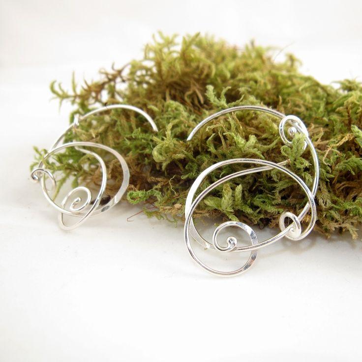 Galleri Castens - Curly silver Earrings