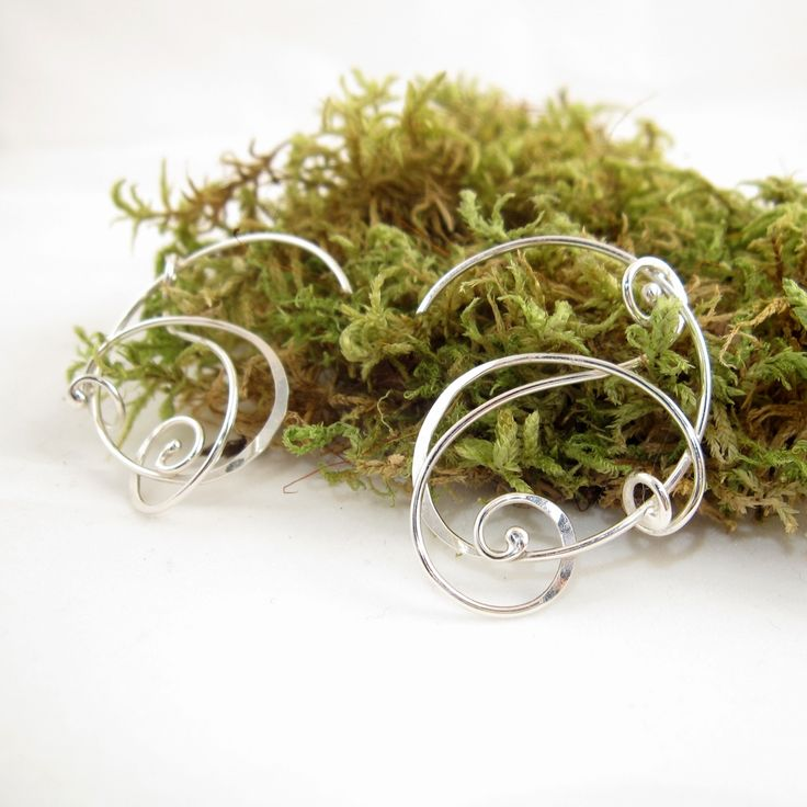 Galleri Castens - Curly silver Earrings