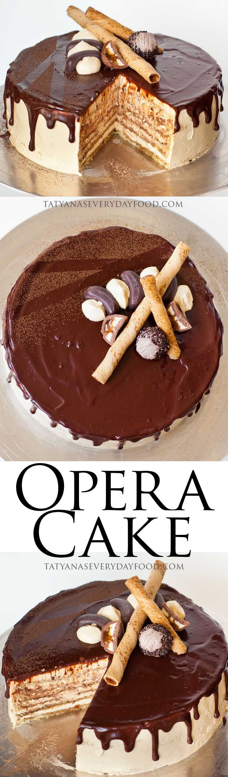 Opera Cake video recipe - elegant, amazingly delicious cake!