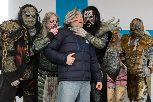 "LORDI: live appearance on German TV - Pro 7 Wok racing championships!    See a video of Lordi's ""The Riff"" performance. ;http://tvtotal.prosieben.de/tvtotal/videos/player/index.html?contentId=139335=related"