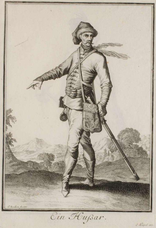 A Hungarian Hussar, by Caspar Luyken.