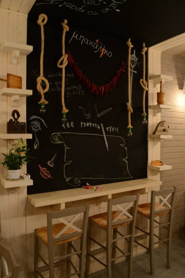 #interior #design #EpilisisStudio #restaurant #grill #blackboard