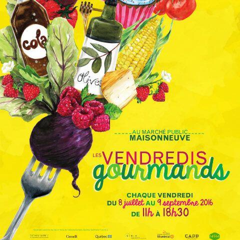 Faites le plein de produits montréalais tous les  vendredis de l'été au Marché public Maisonneuve!