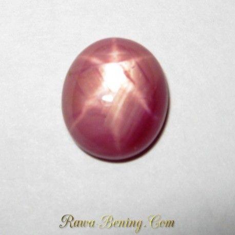 Natural Pinkish Red Star Ruby 4.68 carat
