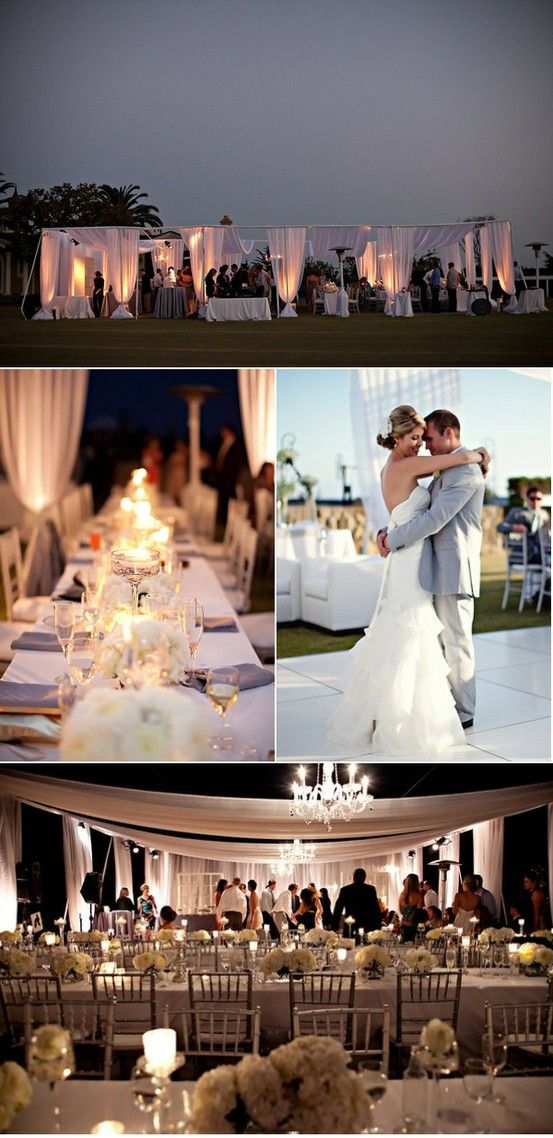 non-tent tented reception... I would be over the moon with this!