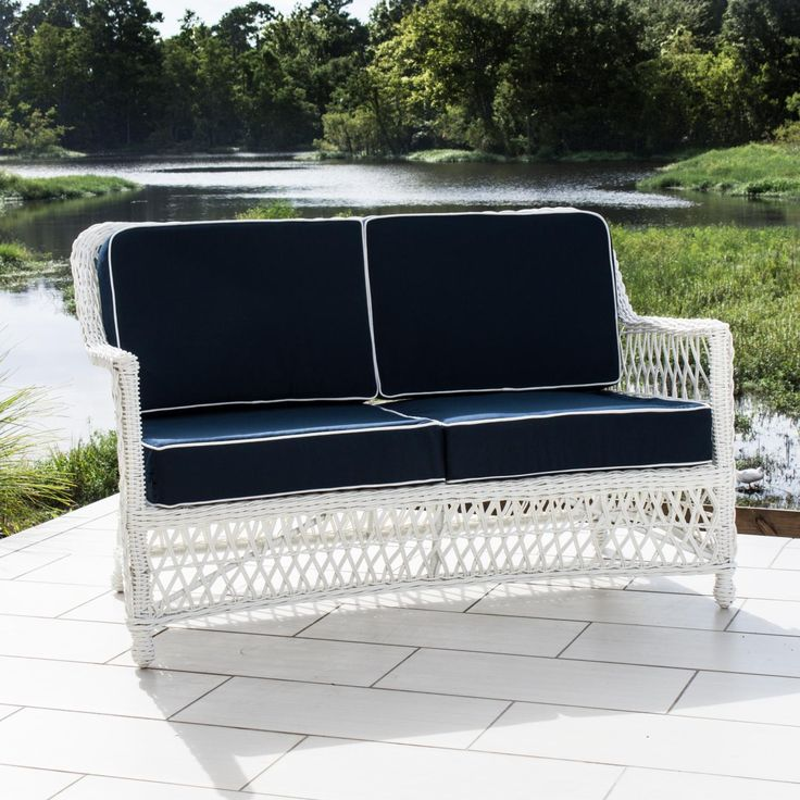Everglades White Resin Wicker Patio Loveseat By Lakeview Outdoor Designs  Available At Ultimate Patio. $1127