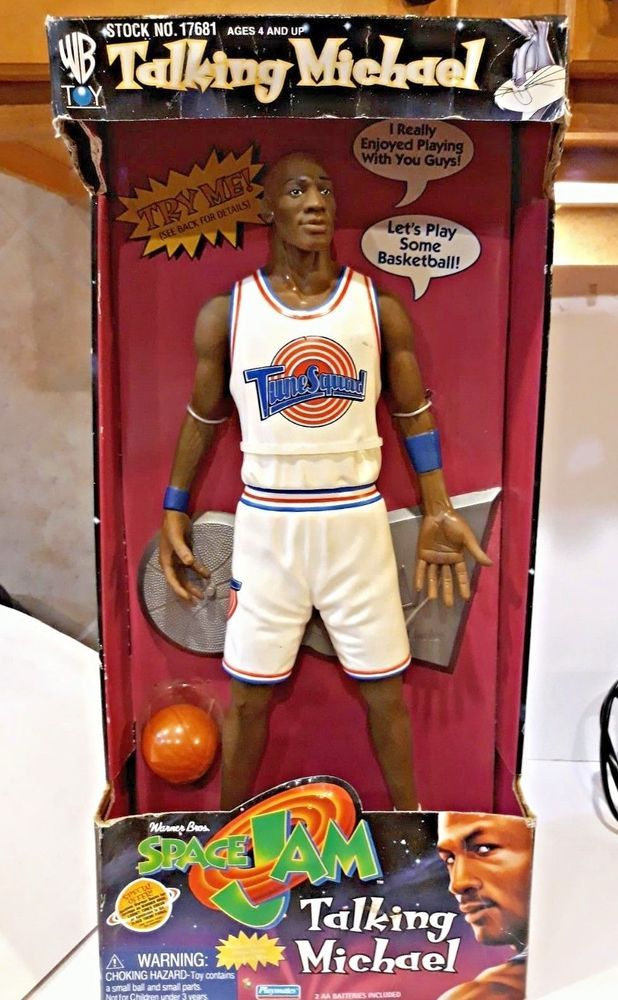 ceef9a0955cc48 Michael Jordan Space Jam Looney Tunes Squad MVP action Figure - NEW working  Toon  PlaymatesToys