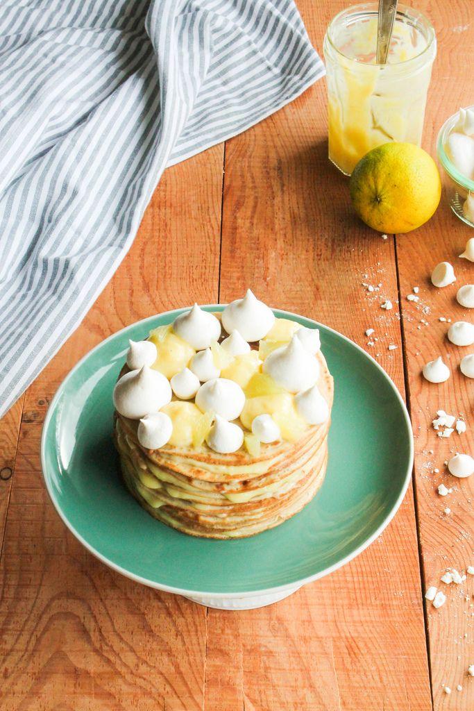 Layer cake de crêpes façon tarte au citron {sans lait ...