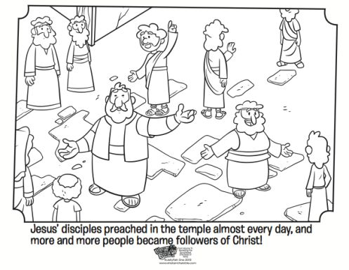 kids coloring page from whats in the bible showing peter preaching volume 11 - Colouring Pages For Kids To Print