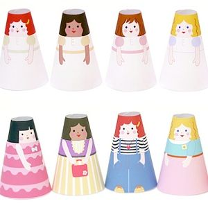 Paper dolls and paper world FREE Printables  Homemade Toys for Creative Play - Mr Printables