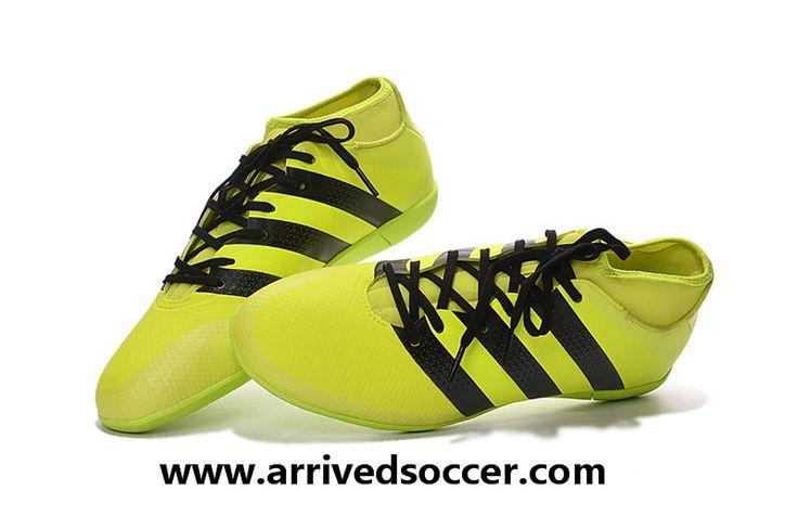 Adidas Ace 16.3 Primemesh Indoor Football Trainers - Solar Yellow/Core…