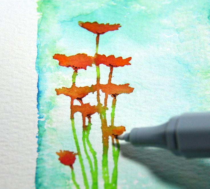 Spectrum Noir Aqua Markers Colouring Tutorial #SpectrumNoir #Aquatint #Watercolour