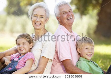 Grandparents With Grandchildren In The Country Stock Photo 102503609 : Shutterstock