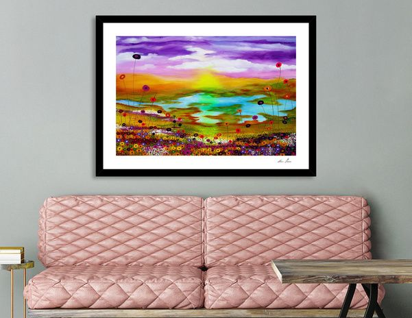 Discover «lovely landscape», Exclusive Edition Fine Art Print by Ans Duin - From 25€ - Curioos