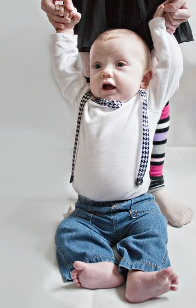 Bow Tie Onesie Tutorial or how to make a Baby Nerd Shirt...super easy way to make baby suspenders and bow tie onto baby onsie