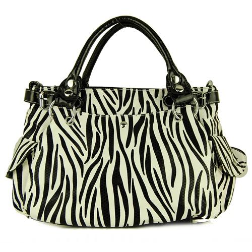 Zebra print handbag