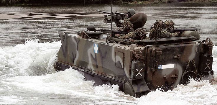 Hellenic Army M113 performs amphibious pass at the moment.